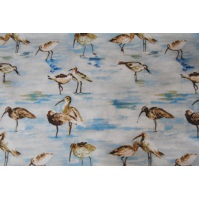 Westward Ho Sandpiper Cobalt Curtain Fabric