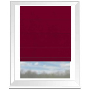 Clarke and Clarke Altea Scarlet Roman Blind