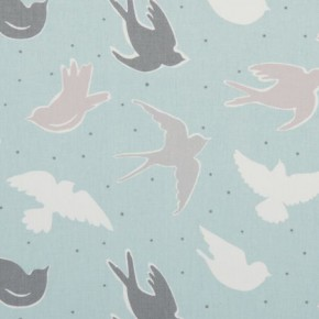 Clarke and Clarke Maritime Prints Seabirds Mineral Made to Measure Curtains