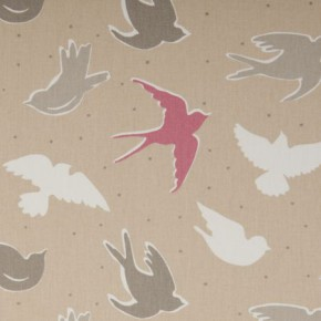 Clarke and Clarke Maritime Prints Seabirds Sand Curtain Fabric
