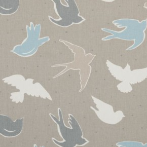 Clarke and Clarke Maritime Prints Seabirds Surf Curtain Fabric