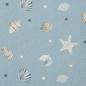 Clarke and Clarke Maritime Prints Seashells Marine Curtain Fabric