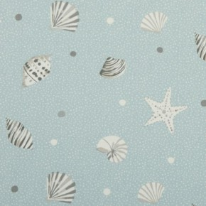 Clarke and Clarke Maritime Prints Seashells Mineral Curtain Fabric