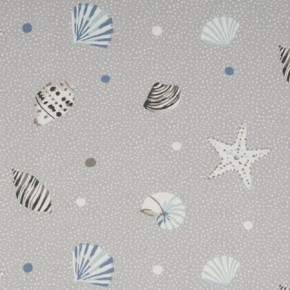 Clarke and Clarke Maritime Prints Seashells Mist Curtain Fabric
