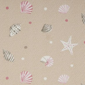 Clarke and Clarke Maritime Prints Seashells Sand Curtain Fabric