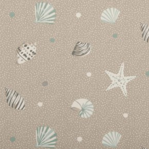 Clarke and Clarke Maritime Prints Seashells Surf Curtain Fabric
