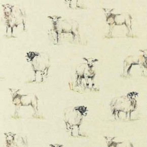 Clarke and Clarke Countryside Sheep Linen Curtain Fabric