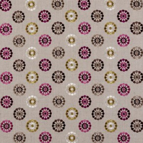 Clarke and Clarke Bukhara Shiraz Berry Curtain Fabric