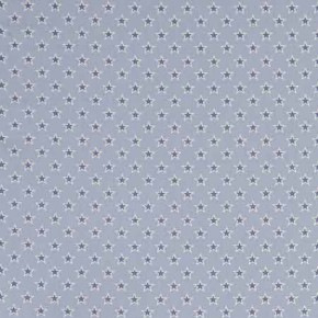 Clarke and Clarke Garden Party Shooting Stars Chambray Curtain Fabric