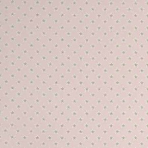 Clarke and Clarke Garden Party Shooting Stars Pink Curtain Fabric