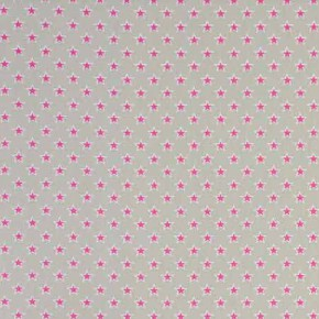 Clarke and Clarke Garden Party Shooting Stars Raspberry Curtain Fabric