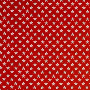 Clarke and Clarke Garden Party Shooting Stars Red Curtain Fabric