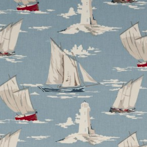 Clarke and Clarke Maritime Prints Skipper Marine Curtain Fabric