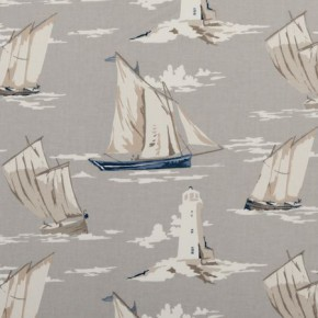 Clarke and Clarke Maritime Prints Skipper Mist Curtain Fabric