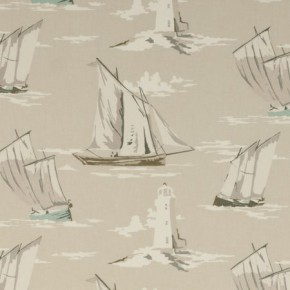 Clarke and Clarke Maritime Prints Skipper Surf Curtain Fabric