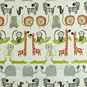 Prestigious Textiles Playtime Snappy Orange Curtain Fabric