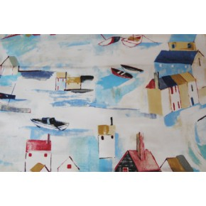 Westward Ho St Ives Cobalt Curtain Fabric