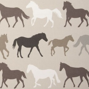 Clarke and Clarke Sketchbook Stampede Linen Curtain Fabric