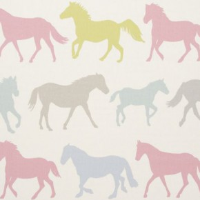 Clarke and Clarke Sketchbook Stampede Sorbet Curtain Fabric