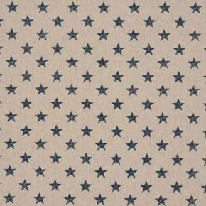 Clarke and Clarke Fougeres Stars Navy Curtain Fabric