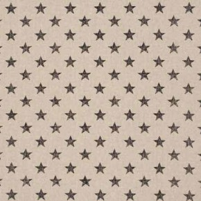 Clarke and Clarke Fougeres Stars Noir Curtain Fabric
