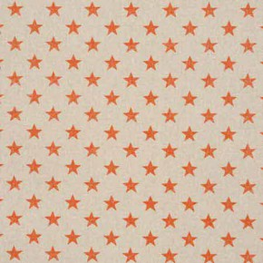 Clarke and Clarke Fougeres Stars Orange Curtain Fabric