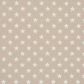 Clarke and Clarke Fougeres Stars White Roman Blind