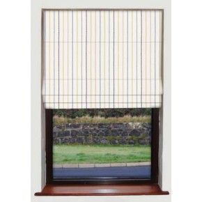 Stitch Stripe Blue Roman Blind