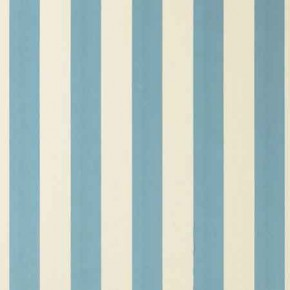 Clarke and Clarke Chateau St James Stripe Aqua Curtain Fabric