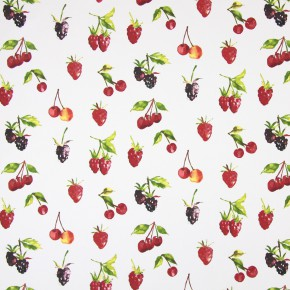 Country Fair Summer Berries Watercolour Curtain Fabric
