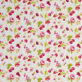 Clarke and Clarke Garden Party SummerFruits Raspberry Curtain Fabric