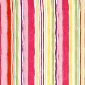 Clarke and Clarke Artbook Sunrise Stripe Linen Multi Curtain Fabric