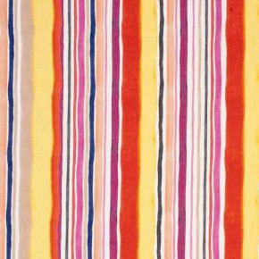 Clarke and Clarke Artbook Sunrise Stripe Linen Spice Curtain Fabric