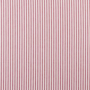 Clarke and Clarke Ticking Stripes Sutton Red Curtain Fabric