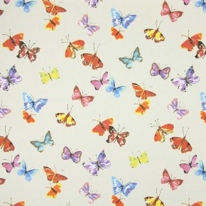 Country Fair Sweet Butterfly Linen Curtain Fabric