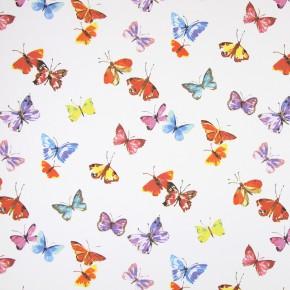 Country Fair Sweet Butterfly Watercolour Curtain Fabric