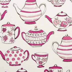Clarke and Clarke Blighty Teatime Pink Curtain Fabric