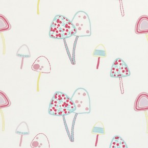 Clarke and Clarke Storybook Toadstools Pink Curtain Fabric