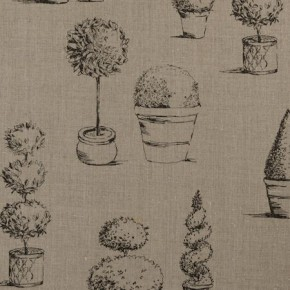 Clarke and Clarke Clarisse Topiary Linen Made to Measure Curtains