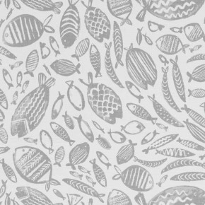 A Land & Sea Trawler Grey  Curtain Fabric