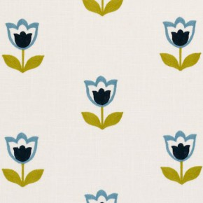 Clarke and Clarke Kashmir Tulipa Mineral Curtain Fabric