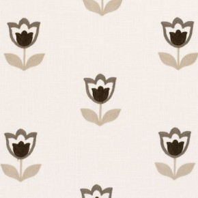 Clarke and Clarke Kashmir Tulipa Natural Curtain Fabric