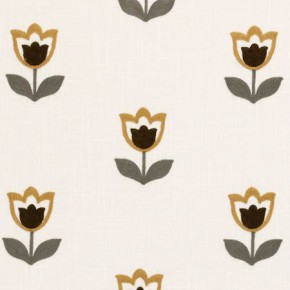 Clarke and Clarke Kashmir Tulipa Ochre Made to Measure Curtains