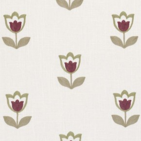 Clarke and Clarke Kashmir Tulipa Orchid Curtain Fabric