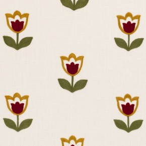 Clarke and Clarke Kashmir Tulipa Spice Made to Measure Curtains