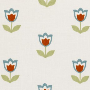Clarke and Clarke Kashmir Tulipa Summer Curtain Fabric