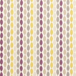 Clarke and Clarke Festival Twist Elderberry Curtain Fabric