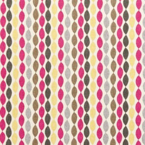 Clarke and Clarke Festival Twist Sorbet Curtain Fabric