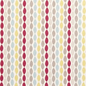 Clarke and Clarke Festival Twist Summer Curtain Fabric