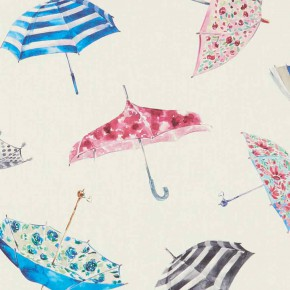 A Village Life  Umbrellas  Cream  Curtain Fabric